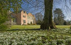 Hopton Hall at snowdrop time