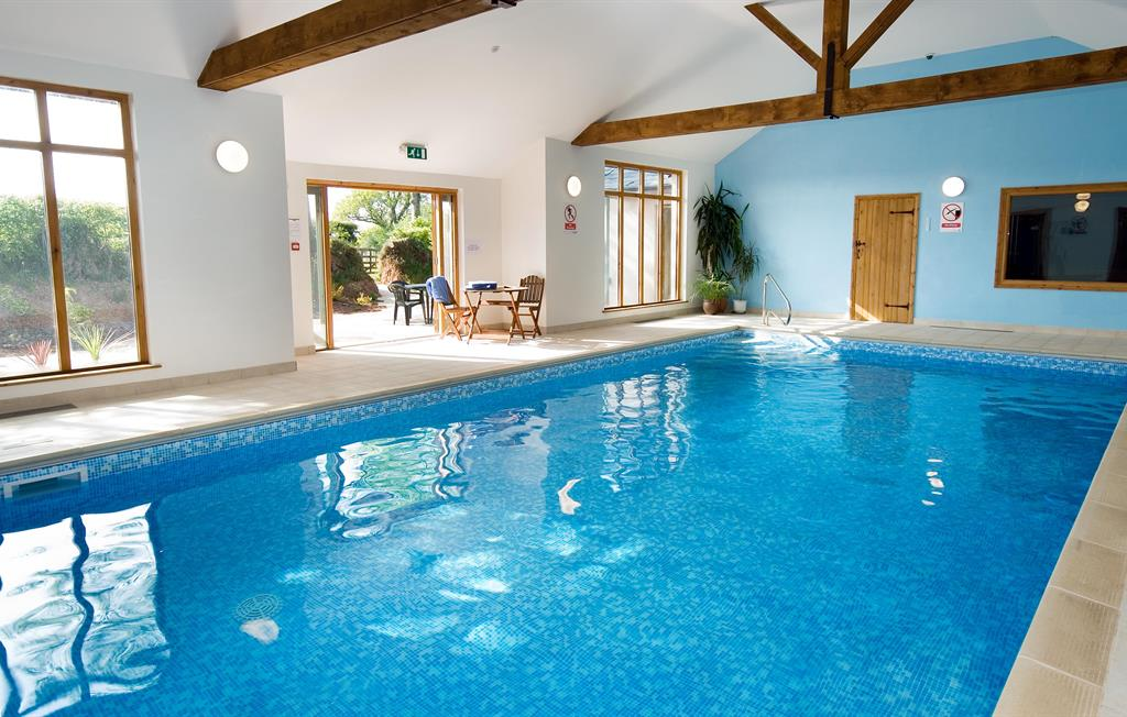 Indoor heated pool and sauna