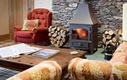 Log burner in Waternook