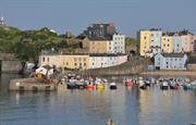 Evening high tide, Tenby Harbour