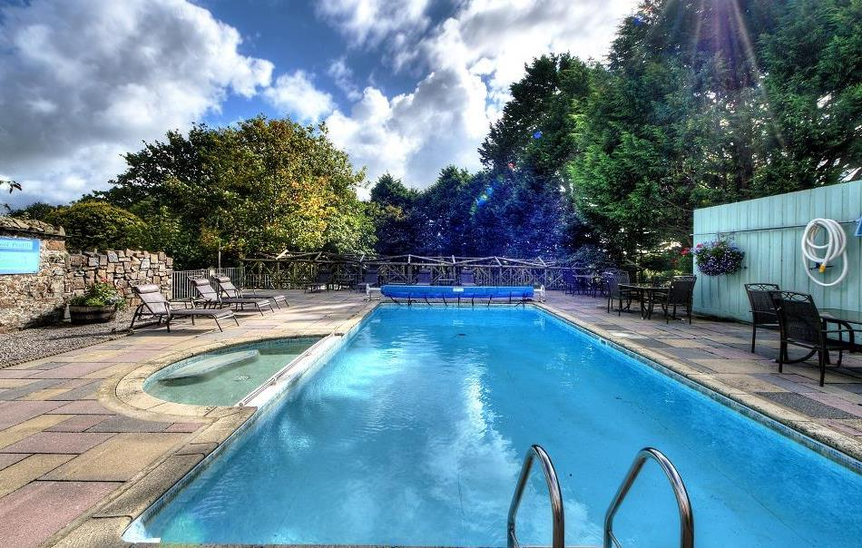 Heated outdoor pool at Broomhill Ma