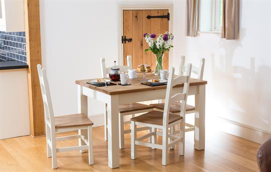 The Old Cow Stall dining table