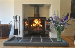 Woodburner for cosy evenings in