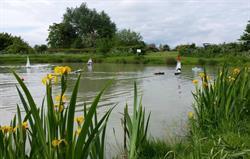 Model boating lake on site