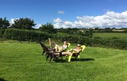 Enjoying the Devon sunshine