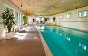 The heated indoor pool in our onsit