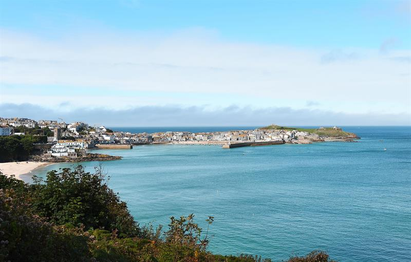 View of St Ives from house