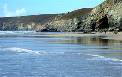 Porthtowan's amazing beach.