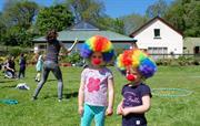 Circus skills at Clydey