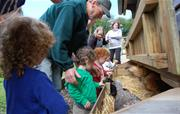 Egg collecting with farmer Malcolm