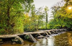 Tarr Steps Ancient Bridge On Exmoor