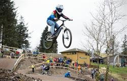 Biking at Bwlch Nant yr Arian