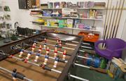 Heated games room