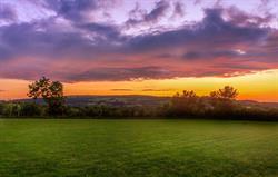 Home Farm Fields at dusk