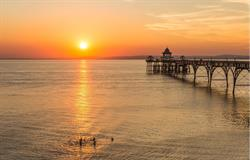 Clevedon Bridge at Sunset