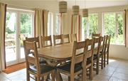 Large dining table seating up to 16
