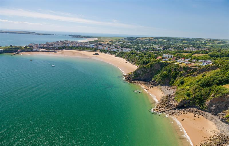 Tenby from the sky