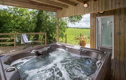 Hot tub and Sauna in the gardens