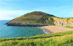 Mwnt Beach. Dolphin spotting