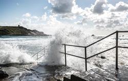 Waves over Bude Sea Pool