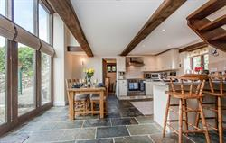 Barn kitchen and dining area