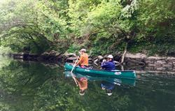 Canoes on the River Teifi