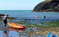 Kayaking at Ceibwr Bay