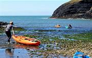 Kayaking at Ceibwr Bay
