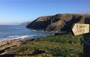 Coastal Path Sign at Ceibwr