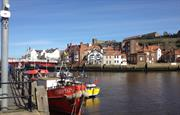 Nearby Whitby harbour