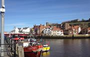Whitby harbour only 3 miles away