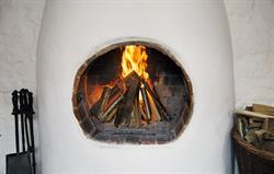 Beechnut Adobe Fireplace