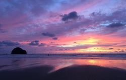 Sunset at Trebarwith Strand