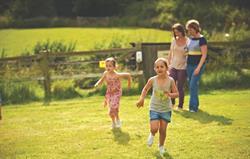 Children playing at Gladwins Farm