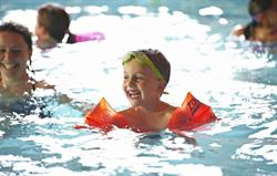 Children swimming at Gladwins Farm