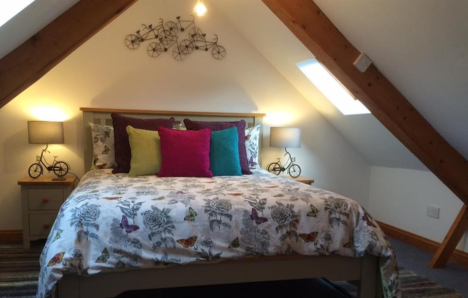 comfortable bedroom in Swallows Nes