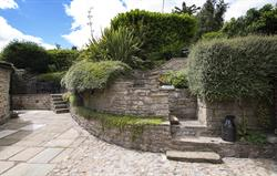 Inglenook courtyard & lower patio