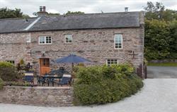 The Byre main entrance & rear patio