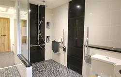 Wet room foldaway accessibiity