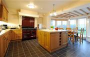 Kitchen with underfloor heating