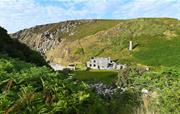 The Ruins & cove at Llanlliana