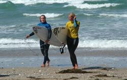 Surfer Girls after a busy surf comp