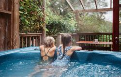 Children in Rosehill Hot Tub
