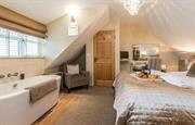 Master bedroom & freestanding bath