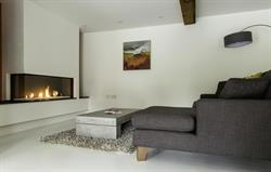 Modern gas fire to relax by