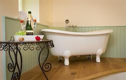 The decadence of a bedroom bath