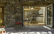 Bifold doors from patio to kitchen
