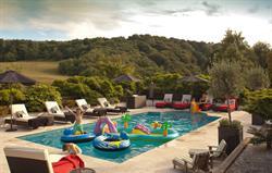 Kids in swimming pool