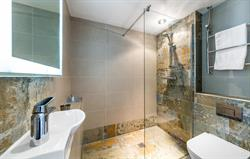 Thatched ensuite shower