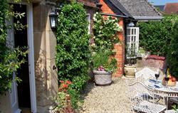The pretty private courtyard